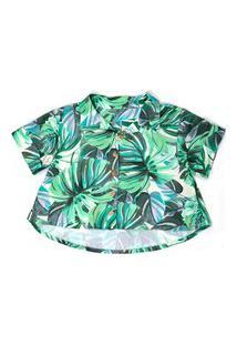 Camisa I Am Folhagem Verde