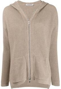 La Fileria For D'Aniello Hooded Cardigan - Neutro