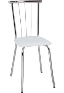 Cadeira Carraro 154 Aço Cromada (2 Unidades) Cromada/Branco