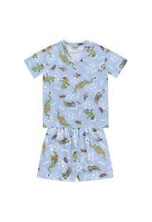 Pijama Infantil Curto Espacial - Fkn Sleep We
