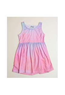 Vestido Infantil Sem Manga Tie Dye Tam 1 A 3
