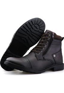Bota Casual Touro Boots Furos ZãPer Cafã© Marrom - Marrom - Masculino - Dafiti