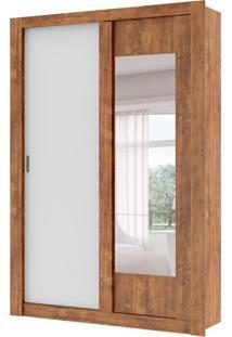 Guarda-Roupa Solteiro Elus Com Espelho 2 Pt 2 Gv Native E Branco
