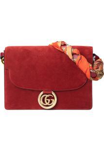Gucci Bolsa Tiracolo Com Detalhe De Lenço - Vermelho