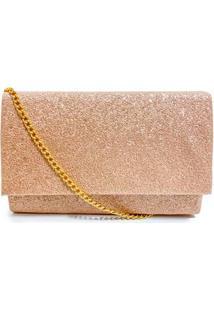 Bolsa Clutch Glitter Envernizado