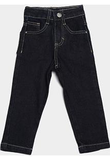 Calça Jeans Bebê Malwee Básica Masculina - Masculino-Azul Escuro