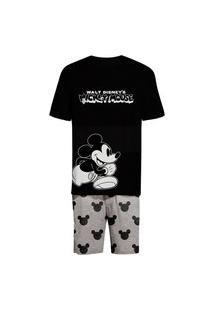 Pijama Hering Curto Mickey And Friends Preto