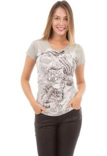 Camiseta Aes 1975 Eagles Feminina - Feminino-Cinza