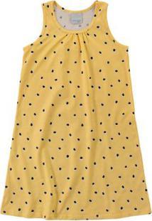 Vestido Amarelo Poá Evasê