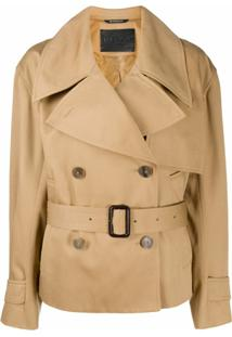 Givenchy Short Belted Trench Coat - Marrom