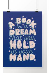 Poster A Book Is A Dream