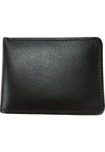 Carteira Porta Cartão Em Couro T19-015