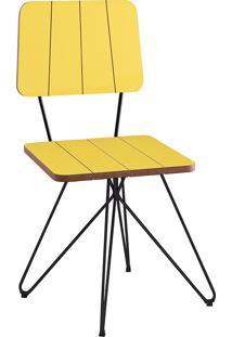 Cadeira Costela Butterfly-Daf Mobiliário - Amarelo