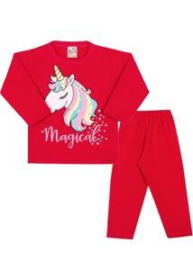 Conjunto Longo Infantil Clubinho Kids Blusa Magical Unicornio E Calça Em Moletom  Feminina - Feminino 52b1facb35