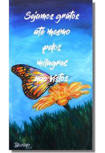 Quadro Decorativo Estilo Painel Pintado A Mão Com Frase