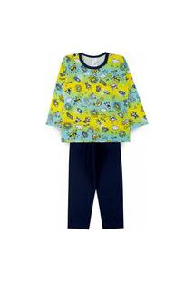 Pijama Infantil Hi Moon Amarelo 2821 - Kappes