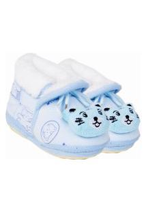 Pantufa Bebê Menino Azul Stuf Sp1512-19-20