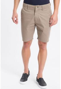 Bermuda Color Chino Estampada - Cáqui - 38