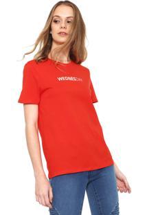 Camiseta Only Wednesday Vermelha