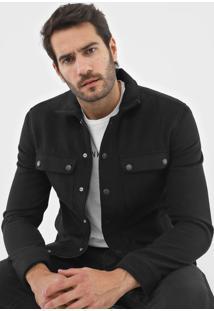 Casaco Calvin Klein Jeans Botões Preto