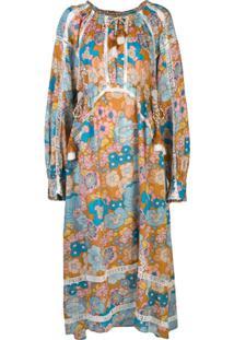 Dodo Bar Or Vestido Longo Com Estampa Floral - Marrom