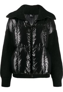 Moncler Grenoble Knitted Padded Jacket - Preto
