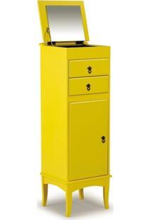 Porta Jóias Hidra 2 Gavetas E 1 Porta - Amarelo - Tommy Design