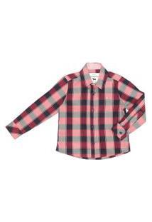Camisa Infantil / Kids Em Tricoline Sarjada Com Patch De Cachorrinho - Um Mais Um Vermelho