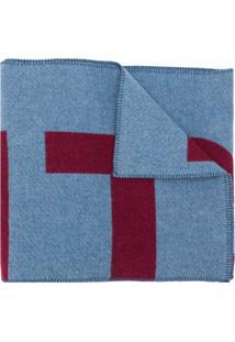 Isabel Marant Cachecol Loli De Jacquard Com Logo - Azul