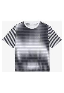 Camiseta Lacoste Regular Fit Azul Marinho