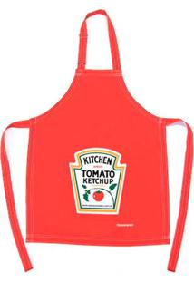 Avental Ketchup Poliéster Passaumpano