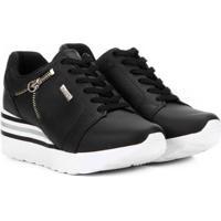 6a559da8b8 Tênis Kolosh Sneaker Anabela Zíper Lateral Feminina - Feminino-Preto