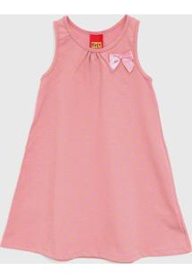 Vestido Kyly Infantil Laço Rosa/Amarelo