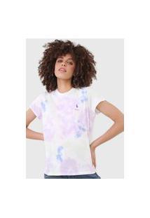 Camiseta Polo Ralph Lauren Tie Dye Roxa/Verde