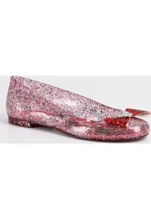 Sapatilha Infantil Glitter Minnie Laço Disney