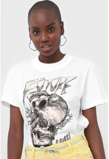 Camiseta Colcci Caveiras Off-White - Off White - Feminino - Algodã£O - Dafiti