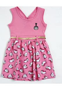 Vestido Infantil Unicórnios Agnes Cinto Minion