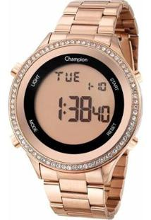 Relógio Champion Digital Ch40222Z Feminino - Feminino-Rosê
