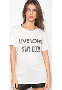"Camiseta ""Live Long""- Off White- Colccicolcci"