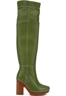 Jacquemus Bota Over-The-Knee - Verde