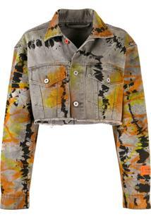 Heron Preston Jaqueta Jeans Cropped - Cinza
