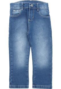 Calça Jeans Malwee Kids Menino Lisa Azul