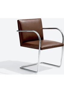 Cadeira Mr245 Inox Linho Impermeabilizado Cinza - Wk-Ast-43,