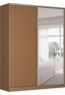 Guarda-Roupa Solteiro Com Espelho Tunas Iii 2 Pt 3 Gv Marrom