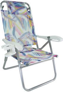 Cadeira De Alumínio Reclinável Zaka Up Line Com Assessórios