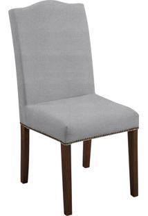 Cadeira Silvia T0034 Cinza C/ Tachas Daf Cinza