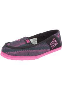 Mocassim Dc Shoes Villain Slipper Preto