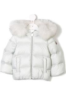Moncler Kids Hooded Padded Jacket - Cinza
