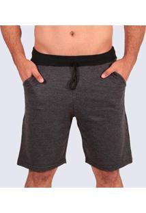 Bermuda Plus Size Moletom Mz Authentic Masculino - Masculino-Mescla