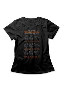 Camiseta Feminina Queen We Will Rock You Preto